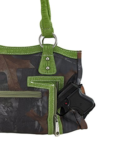 Handbag Carry Concealed Cross Green Studded Forest Forest Camouflage Studded OqFUwWa6