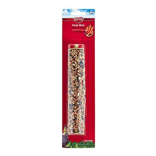 Honey Sticks Bird - Kaytee Fiesta Tropical Fruit And Veggie Cockatiel Treat Stick, 4-Oz