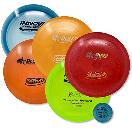 Driven Disc Golf - Advanced Players Pack (5 Disc Driver Set - Premium (Colors Vary)) by Driven Disc Golf (Image #1)