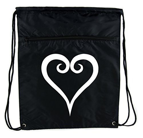 Kingdom Hearts Style Cinch Bag Drawstring Backpack Anime Gaming Alternative Clothing