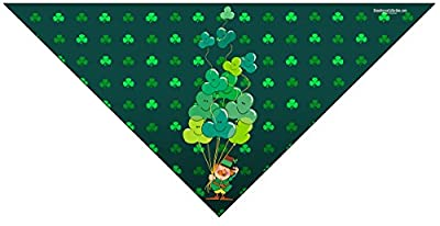 Stonehouse Collection St. Patrick's Day Dog Bandana - Medium to Large Dogs - Fun St Patricks Day Pet Scarf