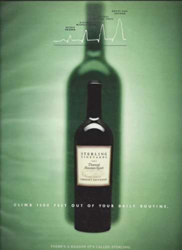 MAGAZINE ADVERTISEMENT For 1997 Sterling Diamond Mountain Cabernet Wine