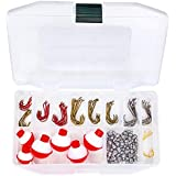 Tailored Tackle Fishing Kit 147 Pc of Gear Tackle Box with Tackle Included | Fishing Hooks & Fishing Bobbers | Starter Fishing Equipment and Accessories for Live Worms & Artificial Bait