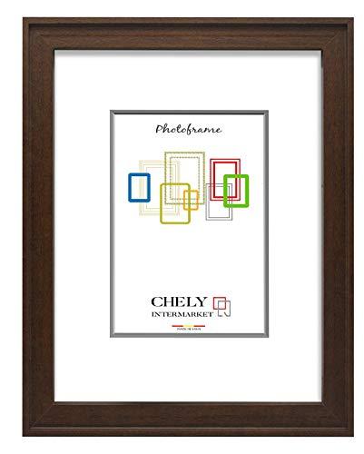 Chely Intermarket, Marco de Madera 50x60 cm (Marron) MOD-289, Hecho con Madera solida, Grosor de Perfil 2cm con Acabado Elegante (289-50x60-1,45)