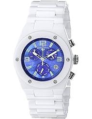 Swiss Legend Womens 10055-WBLSA Throttle Analog Display Swiss Quartz White Watch