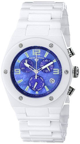 Swiss Legend Women's 10055-WBLSA Throttle Analog Display Swiss Quartz White Watch