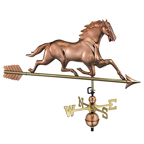 - Good Directions 580PA Racing Horse with Arrow Weathervane, Polished Copper