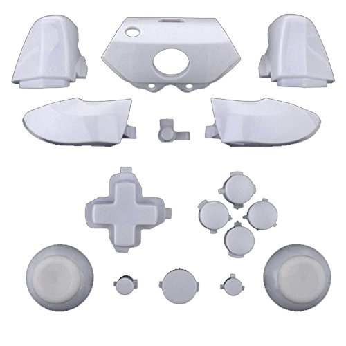 ModFreakz® Full Button Set Thumbsticks Solid White For Xbox One Model 1537 Controllers