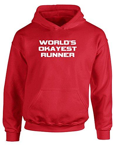 World's Okayest Runner, Kids Printed Hoodie - Fire Red/White 1-2 - Runners World Twitter