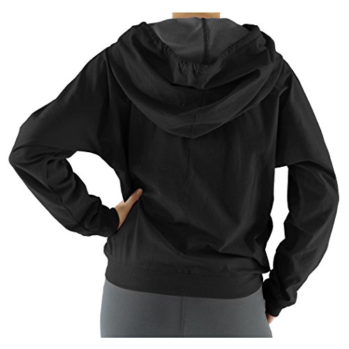 Alex+Abby Plus-Size Funnel Hoodie 3X-Large Black