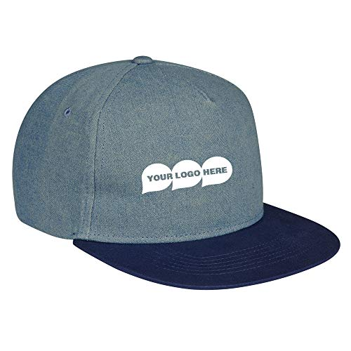 Shades Of Blue Denim Cap - 48 Quantity - $4.49 Each - PROMOTIONAL PRODUCT/BULK/BRANDED with YOUR LOGO/CUSTOMIZED