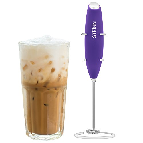 Electric Milk Frother Handheld for Drink Mixer, Latte, Coffe