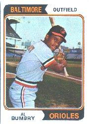 Amazoncom 1974 Topps Baseball Card 137 Al Bumbry Near Mint