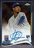 2014 Topps Chrome #66 Yordano Ventura Certified Autograph Baseball Rookie Card - Kansas City Royals
