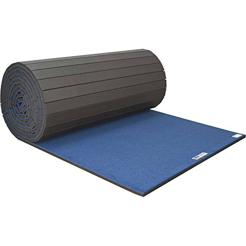 Cheerleading/Gymnastics Roll Mats, 42' x 6' x 1-3/8', Blue