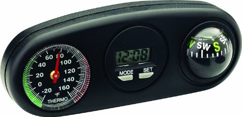 Bell Automotive 22-1-34204-8 R-A-M Clock, Compass and Thermometer