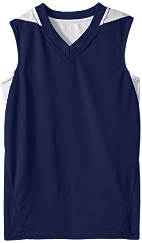 Teamwork Youth Turnaround Reversible Basketball Jersey, Medium, Navy/White