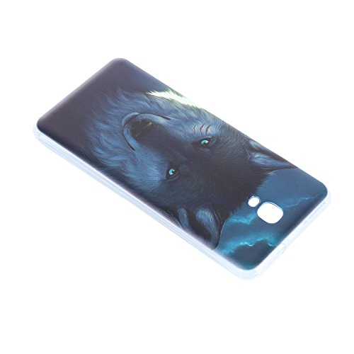 Lusee® Funda de silicona para Oukitel K6000 Plus 5.5 pulgada Suave Cascara TPU lobo vicioso