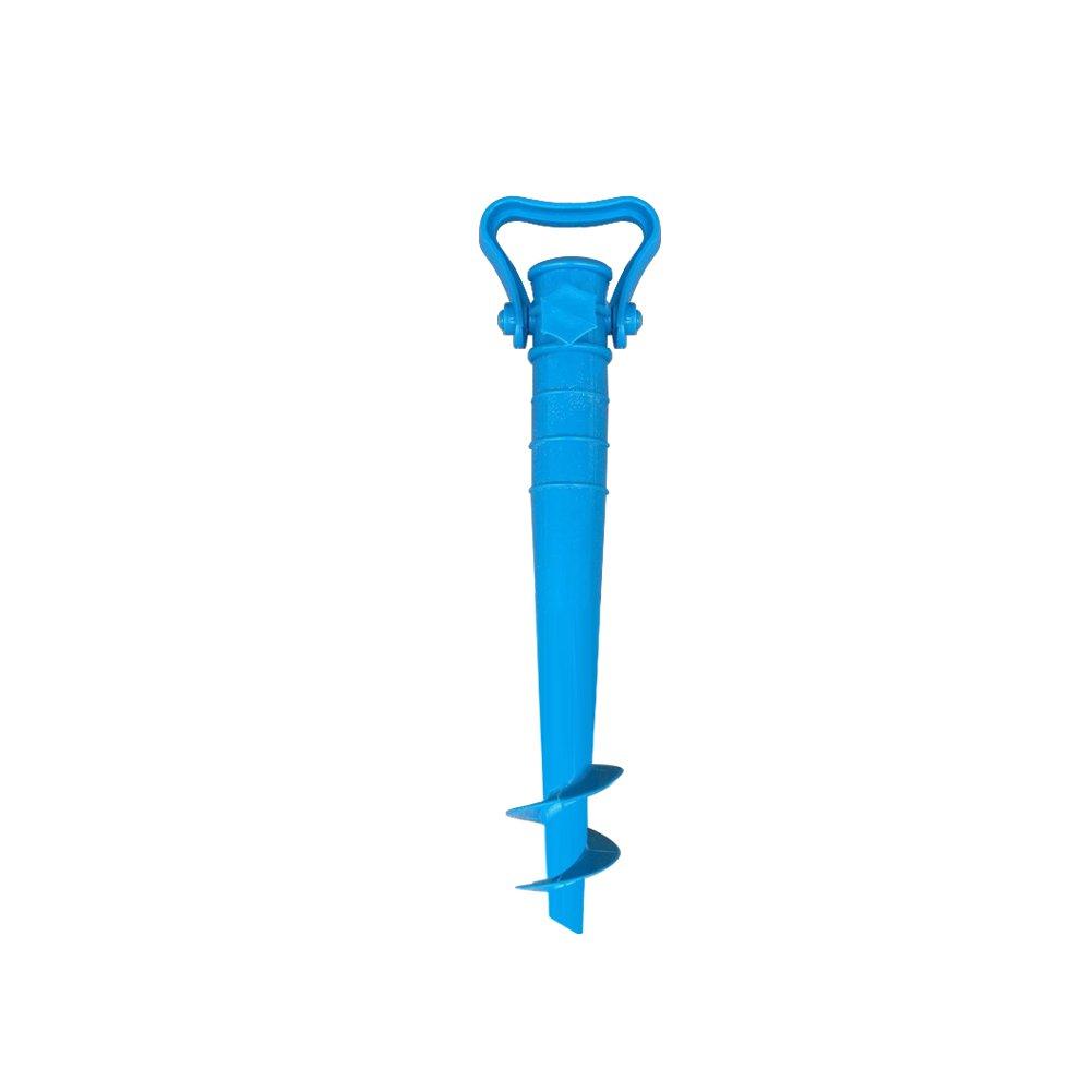 Beach Umbrella Sand Anchor Portatile Facile da Usare Stand Sicuro per Forti Venti