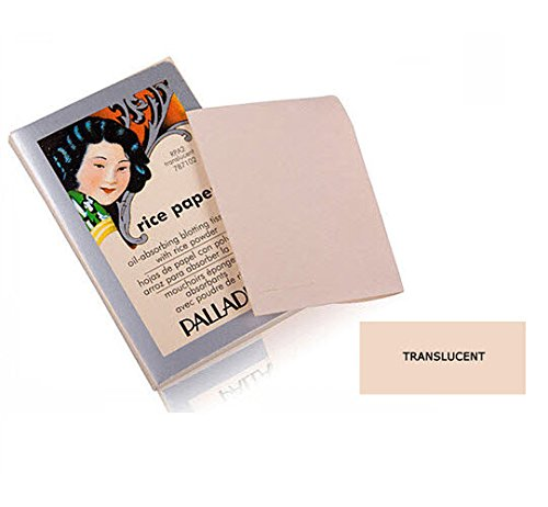 Palladio Rice Paper Tissues, Translucent, 40 Sheets (Pack of 3), Face Blotting Sheets with Natural Rice Powder Absorbs Oil, Helps Skin Stay Looking Fresh and Smooth, Compact Size for Purse or Travel by Palladio
