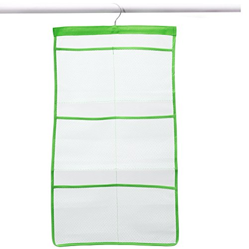 Quick dry hanging bath organizer with 6 pockets hang on for Bathroom accessories organizer