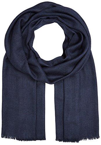 Azzaro 100% Viscose Uni, Echarpe Homme, Bleu (A), 5.5 (Taille Fabricant: 55)