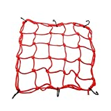 Bungee Motorcycle Helmet Cargo Net 6 Hooks Luggage/Package Cargo Net Load Cover Cord Web