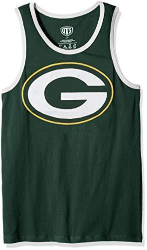 (NFL Green Bay Packers Male NFL OTS Cotton Tank Distressed, Dark Green, Medium)