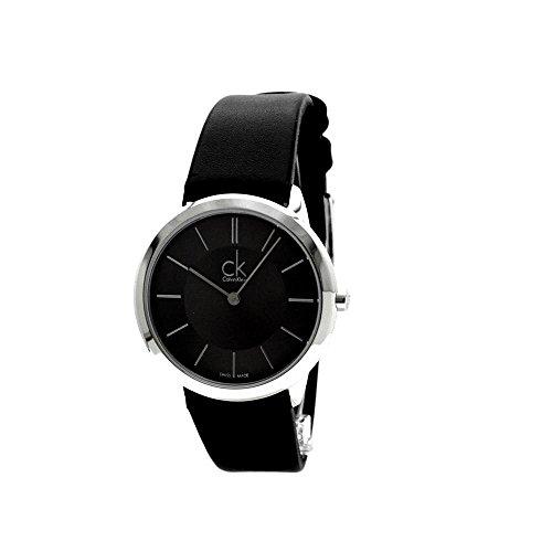 Calvin Klein Minimal Uhr Black Dial Men's Watch K3M221C4 by Calvin Klein