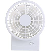 MollBii USB Mini Couple Handheld Portable Collapsible Personal Dual Fan Desktop Rechargeable (1200mAh) Cooling Fan With 3-speed Mode Adjustable For Hot Summer (White)