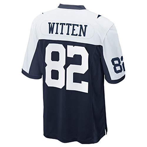 Sandrran Jason_Witten_#82_White-Navy_Football_Jersey_for_Men's/Women's/Youth ()