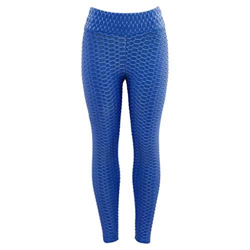 De Imjono Femme Lift Pants Bleu Butt Élastique Pilates Compression cellulite Gym Pantalon Fitness Leggings Slim Elastique Haute Fit Yoga Anti Jogging Sport Taille W9HEID2