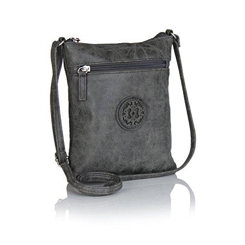 grey-faux-leather-crossbody-bag-with-emblem-mini-purse-w-front-zip-pocket