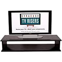 Black XX-Large DOUBLE TOP TV RISER 44X16X8 3/4OUTSIDE 41x15x7 1/4 high INSIDE DIMENSIONS