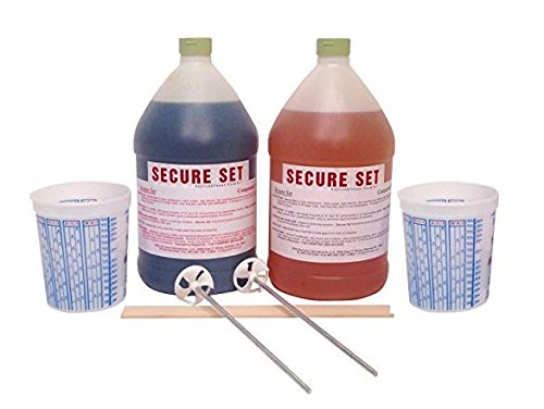 Secure Set - 10 Post Kit - Commercial Grade -2 Gallons. Fast, Secure & Safe Concrete Alternative for Easy Fence Post (2 Post Kit)