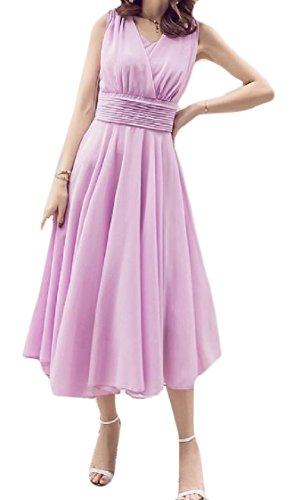 Della Donne Maxi Viola Chiffon Delle Puro Vestito Plus Spiaggia elegante size Coolred Boemia Colore WqHwa4YnxT
