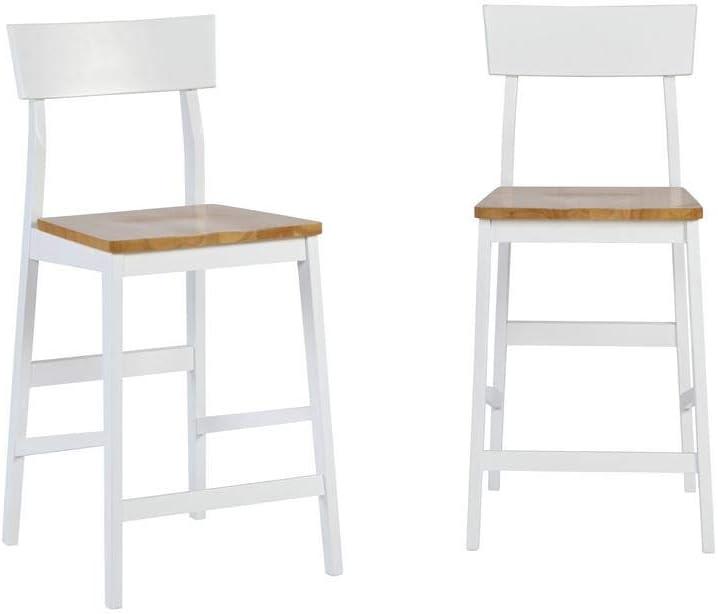 Progressive Furniture Counter Chair (2/Ctn), Light Oak/White