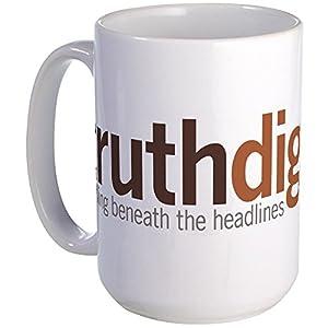 CafePress - Truthdig Large Mug - Coffee Mug, Large 15 oz. White Coffee Cup by CafePress
