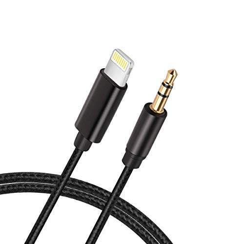 Hzmirzk Aux Cord Compatible with iPhone 7/7 Plus/8/8 Plus/X/XS Max/XR, Nylon Braided 3.5mm Male Stereo Audio Car Aux Cable, Supporting iOS 11.4/12 or Later, Design for Car/Home Stereo/Headphones
