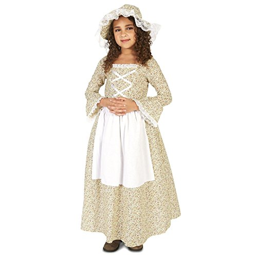Old World American Colonial Girl Child Dress Up Costume L (12-14) - Colonial Girl Childrens Costumes