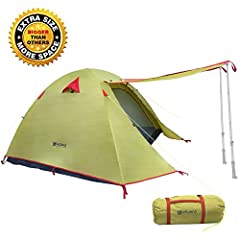 Weanas 3 Season Camping Tent, your best choice for your outdoor activities with your family or friends. Specifications:Inner Tent Dimension: 6.9'X6.9'X4.3(H) (4P) / 6.7'X5.3'X3.8'(H) (3P) / 6.7'X4.3'X3.6'(H) (2P)Rain Fly Dimension: 9.4'X7.1'X...