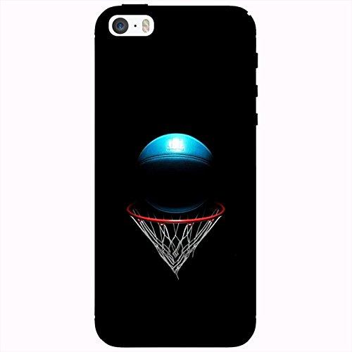 Coque Apple Iphone 5-5s-SE - Ballon-de-Basket-Bleu