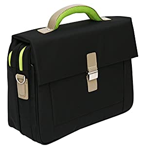 Tassia Laptop Briefcase – Flapover Opening with Adjustable Shoulder Strap