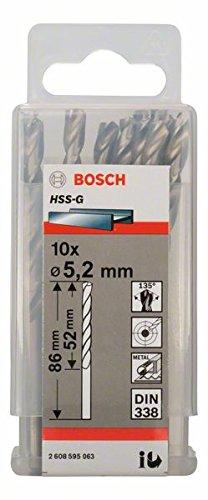 Bosch Pro Metallbohrer HSS-G geschliffen (10 Stück, Ø 5,2 mm) 2608595063