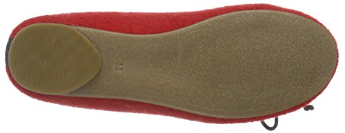 Stegmann 403 - Bailarinas Cerradas de Fieltro Mujer rojo - Rot (rubin 8960)