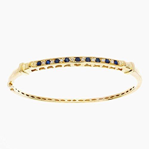Diamond & Sapphire Bangle Bracelet - 4