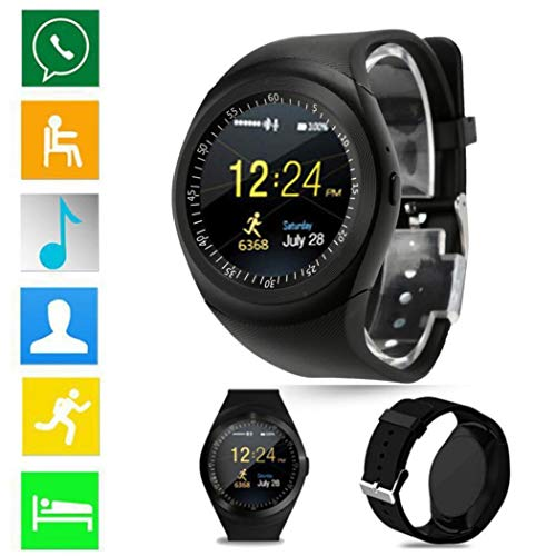 Amazon.com: Axiba 2018 Bluetooth Smart Watch Phone Mate Full Round Screen SIM for Android for iOS (D): Watches