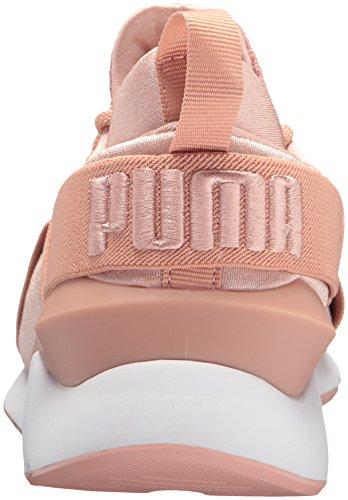 Para White puma Beige Pumamuse Puma Muse Satén Peach Wn Mujer Pointe Satin En 1fq0O