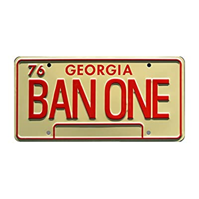 Celebrity Machines Smokey and The Bandit | BAN ONE | Metal Stamped License Plate: Automotive