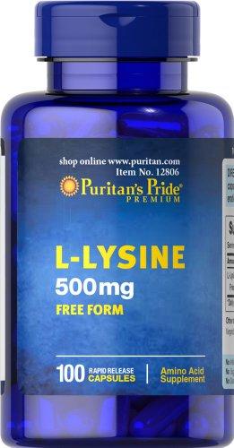Puritan's Pride L Lysine 500 mg 100 Capsules